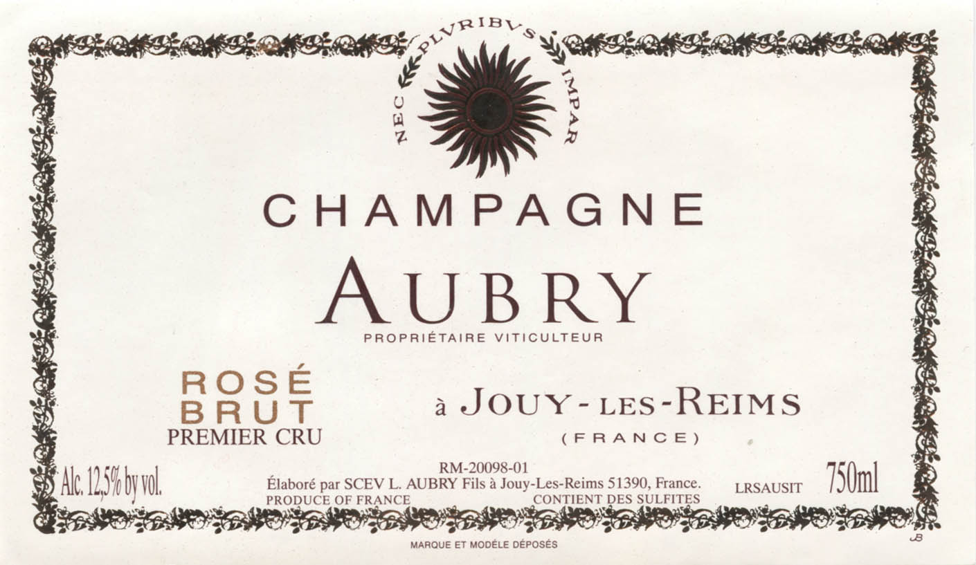St Malo Fil Rouge champagne rose, aubry - skurnik wines