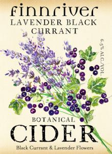 Lavender Black Currant Cider, Finnriver Cidery 1