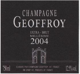 Champagne Millesime Extra Brut, Rene Geoffroy