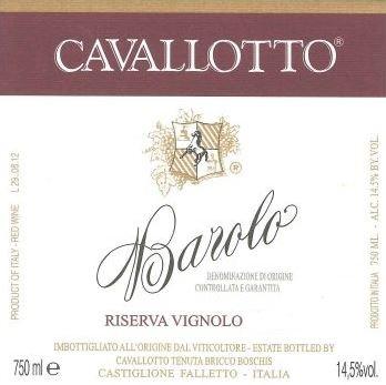 Barolo Riserva 'Vignolo', Cavallotto