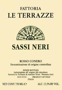 Rosso Conero Riserva 'Sassi Neri', Le Terrazze