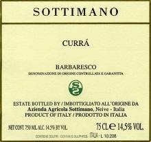 Barbaresco 'Curra',  Sottimano