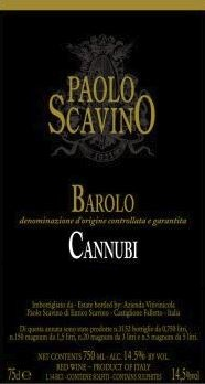 Barolo 'Cannubi', Paolo Scavino