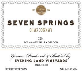 Chardonnay 'Seven Springs', Evening Land