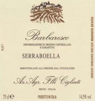 Barbaresco 'Serraboella', Cigliuti