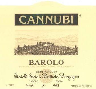 Barolo 'Cannubi', S & B Borgogno