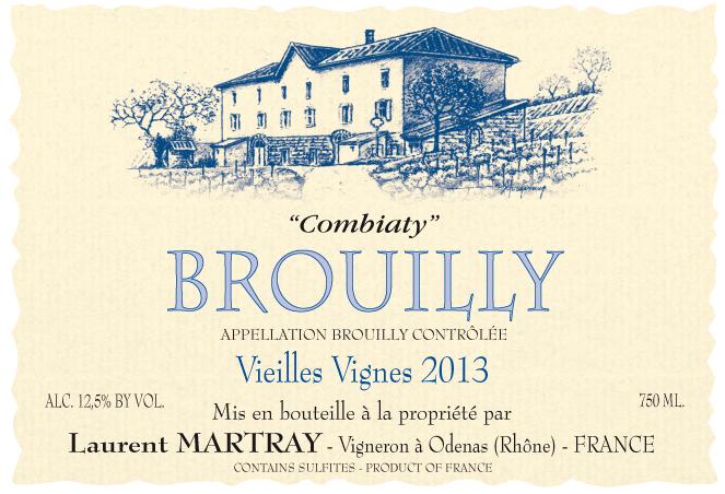 brouilly 39 combiaty 39 laurent martray skurnik wines. Black Bedroom Furniture Sets. Home Design Ideas