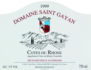 Cotes du Rhone, Domaine St. Gayan