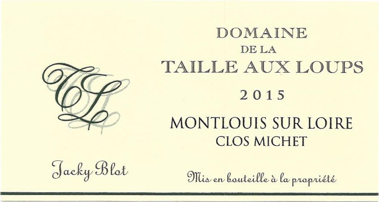 Montlouis Sec 'Clos Michet', Domaine de la Taille Aux
