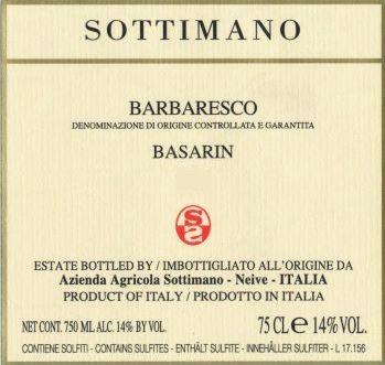 Barbaresco 'Basarin', Sottimano