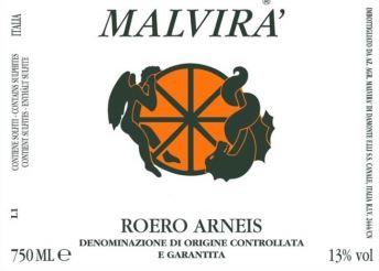 Roero Arneis, Malvira