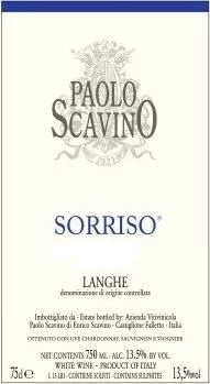 Langhe Bianco 'Sorriso', Paolo Scavino