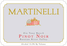 Pinot Noir 'Zio Tony', Martinelli
