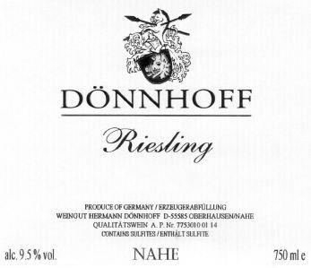 Dönnhoff Estate Riesling