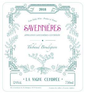 Savennieres 'Le Vigne Cendree', Thibaud Boudignon