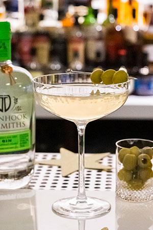 Dirty Greenhook Martini